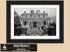 New Orleans Louisiana, Garden District Mansion, Black and White Photo, Framed Print