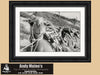 Camel, Cable Beach Broome, Western Australia, Black & White Photo, Framed Print