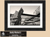 Crescent City Connection, Mississippi River, Reflections, Black and White Photo, Framed Print