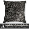 Designer Black & White Throw Pillow - Sweet Grass at Sunset, Charleston Harbor - South Carolina