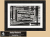 Commanders Palace Restaurant, New Orleans, Retro Sign, Black and White Photo, Framed Print
