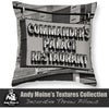 Black & White Throw Pillow - Commanders Palace Restaurant Retro Sign, New Orleans Louisiana - Black and White Photography by Andy Moine