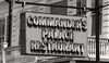 Commanders Palace Restaurant, New Orleans, Retro Sign, Black and White Photo