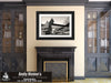 Crescent City Connection, Mississippi River, Black and White Photo, Framed Print