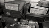 Devonport, Tasmania Australia, Black & White Photography, Vintage Suitcases - Black and White Photography by Andy Moine