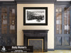 Durango & Silverton Steam Locomotive, Durango Colorado, Black and White Photo, Framed Print