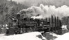 Durango & Silverton #486 Steam Train, Durango Colorado, Black and White Photo