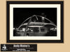 Encounter Restaurant, Los Angeles International Airport, Black and White Photo, Framed Print