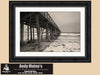 Flagler Beach Pier, Young Lovers, Florida, Black and White Photo, Framed Print