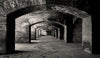 Fort Jefferson, Florida Keys, Brick Archways, Dry Tortugas National Park, Black & White Photo