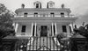 New Orleans Louisiana, Garden District Mansion, Black and White Photo