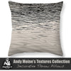 Black & White Throw Pillow - Sunset Reflections, The Great Salt Lake, Utah - Black and White Photography by Andy Moine