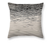 Black & White Throw Pillow - Sunset Reflections, The Great Salt Lake, Utah