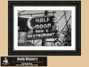 Half Moon Bar, Neon Sign, New Orleans Louisiana, Black and White Photo, Framed Print
