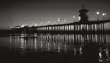 Huntington Beach Pier - Black and White Photo