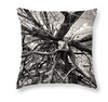 Designer Old Driftwood, Abstract Art, Jekyll Island Georgia - Designer Black & White Throw Pillow - Black and White Photography by Andy Moine