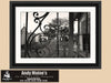 Mardi Gras Beads, Lafayette Cemetery #1, New Orleans, Black & White Photo, Framed Print