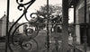 Mardi Gras Beads, Lafayette Cemetery #1, New Orleans, Black & White Photo