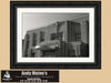 Framed Print, New Orleans Lakefront Airport Terminal, Black and White Photography