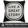 Designer Black & White Throw Pillow - Inspirational Quotes
