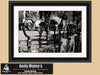 Decorative Wrought Iron Fence, New Orleans Louisiana, Black and White Photo, Framed Print