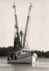 Shrimping Boat, McClellanville South Carolina, Black and White Photograph - Black and White Photography by Andy Moine