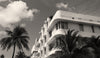 Miami Beach Art Deco Buildings, South Beach Miami, Black and White Photo