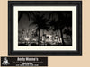Miami Beach, Art Deco Buildings, South Beach Miami Florida, Black & White Photo, Framed Print
