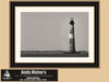 Morris Island Lighthouse, Folly Beach South Carolina, Black and White Photography - Black and White Photography by Andy Moine