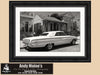 1964 Ford Galaxie, New Orleans, Garden District, Classic Car, Black and White Photograph - Black and White Photography by Andy Moine