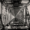 Double Decker Railway Bridge, Black & White Throw Pillow, Awatere, New Zealand