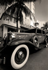 1932 Packard 443 Limosine, Park Central Hotel, Miami Beach, Florida, Black & White Photography - Black and White Photography by Andy Moine