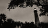 Ponce De Leon Lighthouse, Ponce Inlet Florida, Black and White Photo