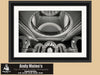 Queen Victoria Building, Sydney, Black and White Photo, Framed Print