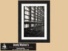 Quebec Railway Station Windows, Gare du Palais, Black and White Photo, Framed Print