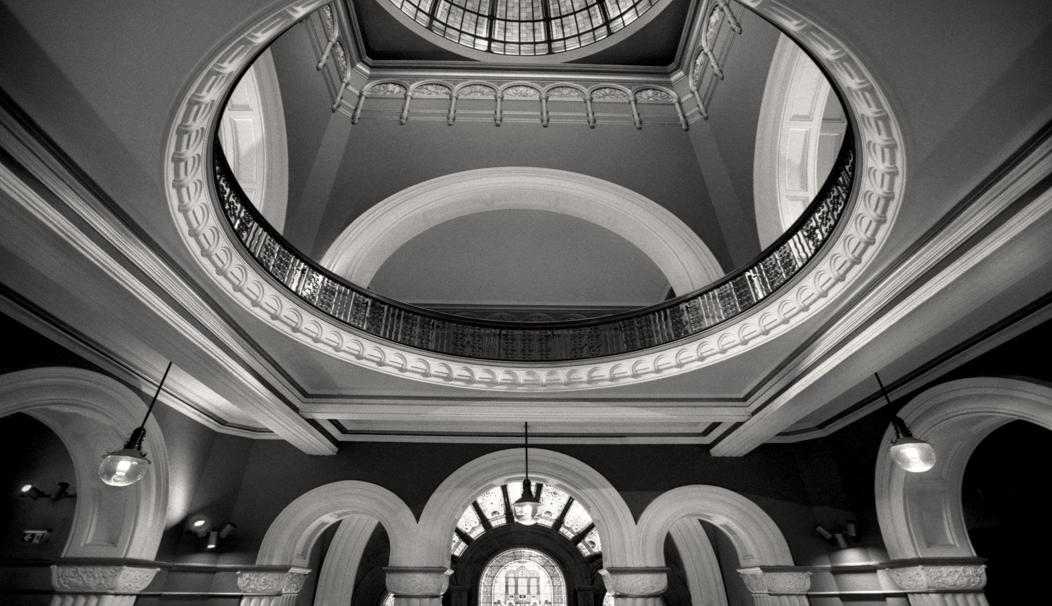Queen victoria building sydney australia black and white photography