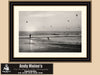Sunset, San Clemente California, Black and White California Photo, Framed Print