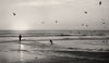 Sunset, San Clemente California, Black and White Photograph - Black and White Photography by Andy Moine