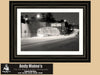 Pacific Coast Highway, Santa Monica California, Black and White Photo, Framed Print