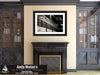 Savannah & Atlanta Locomotive, Black and White Photo, Framed Print