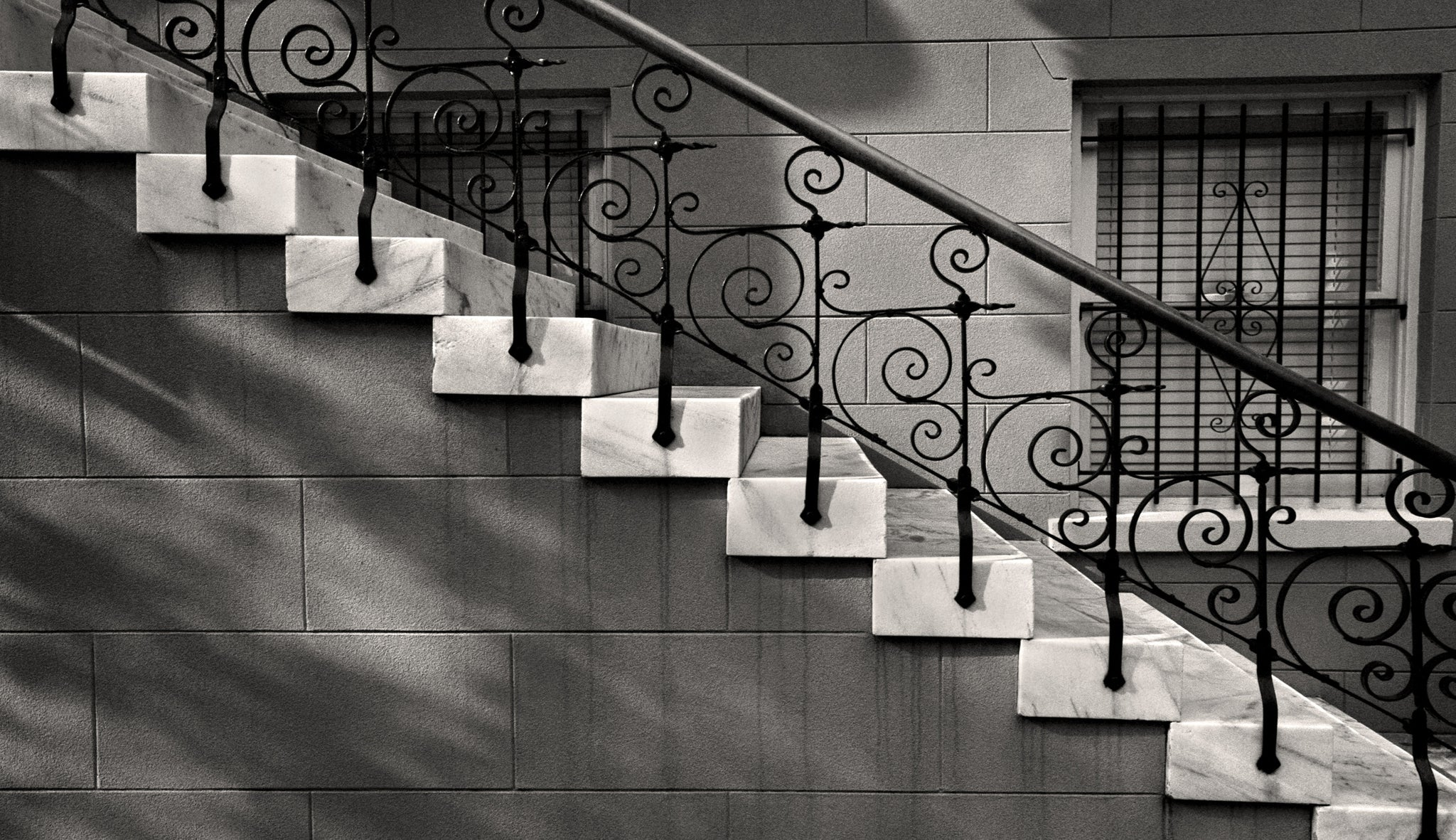 Iron Marble Steps Savannah Georgia Black And White Photograph Fine Art Black And White Photography By The Andy Moine Company