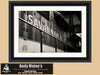 Savannah & Atlanta Diesel Locomotive, Black and White Photo, Framed Print