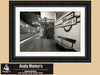 St James Train Station, Sydney, Black and White Photo, Framed Print