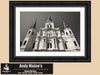 St Louis Cathedral, Jackson Square, New Orleans Louisiana, Black and White Photo, Framed Print