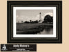 St Marks Lighthouse, Florida Panhandle, Black & White Photo, Framed Print