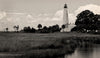 St Marks Lighthouse, Florida, Nautical, Black & White Photo