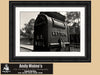 Vintage Mailbox, Rusk Texas, Black and White Photo, Framed Print