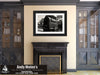 Vintage Mailbox, Rusk Depot, Texas, Black and White Photo, Framed Print