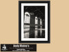 Los Angeles Union Train Station, Black and White Photo, Framed Print