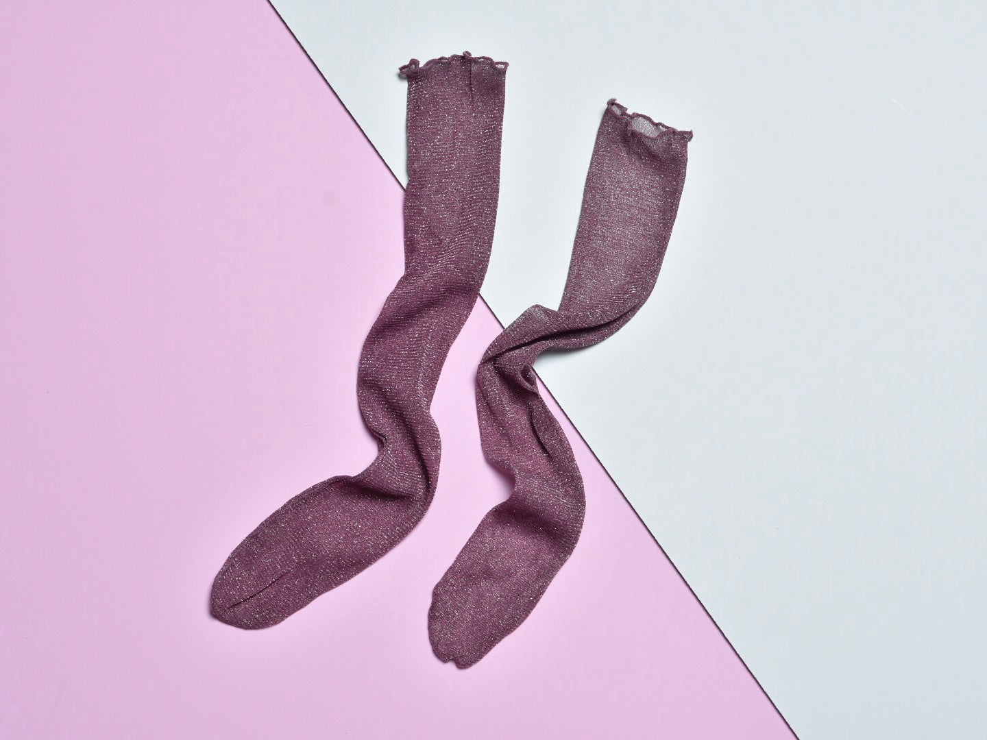 GLITTER SOCKS, PURPLE